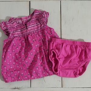Carter's Handkerchief Dress Outfit 2-pc
